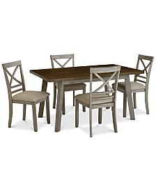 Fairhaven Dining Furniture, 5-Pc. Set (Table & 4 Side Chairs), Created for Macy's