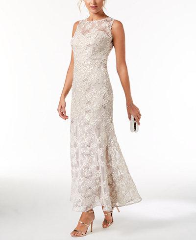 SL Fashions Soutache Sequined Gown