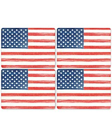 American Flag Placemats, Set of 4