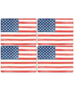 Pimpernel American Flag Placemats, Set of 4