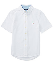 Polo Ralph Lauren Short-Sleeve Cotton Mesh Shirt, Big Boys