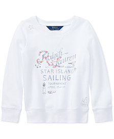 Polo Ralph Lauren French Terry Graphic Pullover, Little Girls