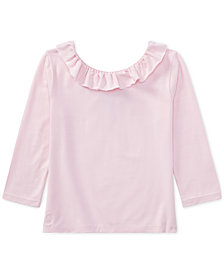 Polo Ralph Lauren Off-The-Shoulder Jersey Top, Big Girls