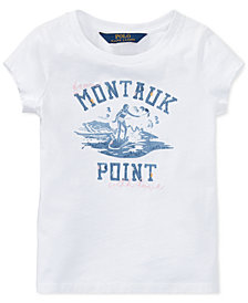 Polo Ralph Lauren Beach Bound Cotton Jersey Graphic T-Shirt, Little Girls