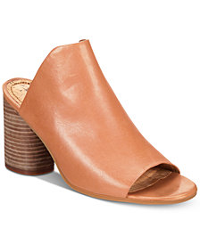 Lucca Lane Hilaire Block-Heel Slip-On Dress Sandals