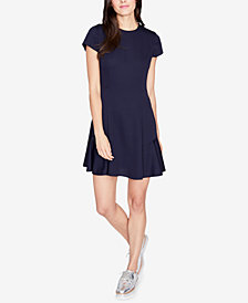 RACHEL Rachel Roy Lace-Up Fit & Flare Dress, Created for Macy's