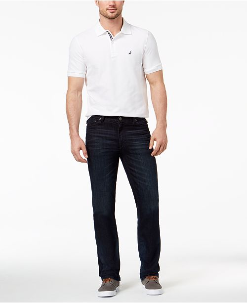Calvin Klein Jeans GET THE LOOK: Big & Tall Straight Fit Jeans + Nautica Polo + 	Polo Ralph Lauren Vaughn Chambray Herringbone Sneakers