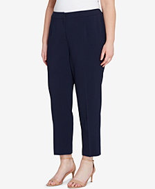 Tahari ASL Plus Size Pebble Crepe Pants