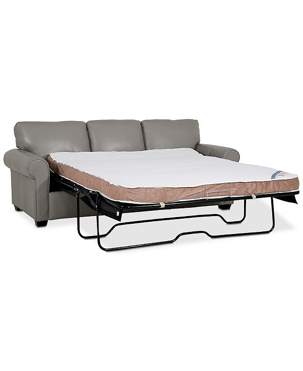 """Furniture Orid 84"""" Queen Leather Sleeper, Created for Macy's"""