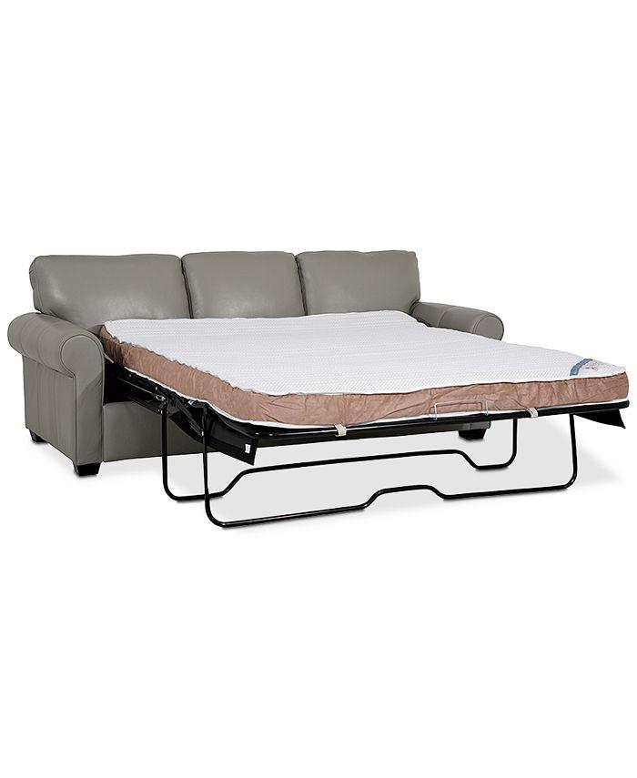 "Furniture - Orid 82"" Queen Leather Sleeper"