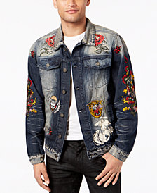 Reason Men's Patch Denim Jacket
