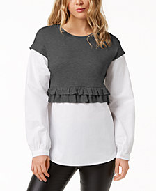 kensie Layered-Look Sweater