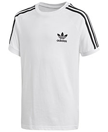 adidas Originals Logo-Print Cotton T-Shirt, Big Boys