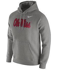 Nike Men's Ole Miss Rebels Cotton Club Fleece Hooded Sweatshirt