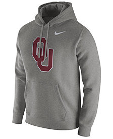 Nike Men's Oklahoma Sooners Cotton Club Fleece Hooded Sweatshirt