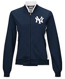 G-III Sports Women's New York Yankees Triple Track Jacket