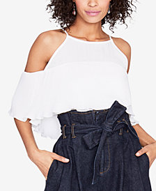 RACHEL Rachel Roy Cold-Shoulder Flounce Top, Created for Macy's