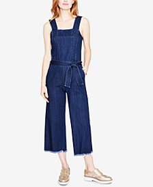 RACHEL Rachel Roy Cotton Cropped Denim Jumpsuit, Created for Macy's