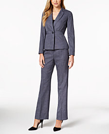 Le Suit One-Button Pantsuit, Regular & Petite