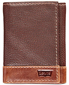 Levi's® Men's Colorblocked Tri-Fold Leather Wallet