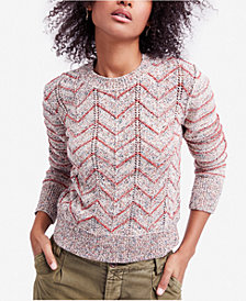 Free People Zig-Zag-Print Sweater