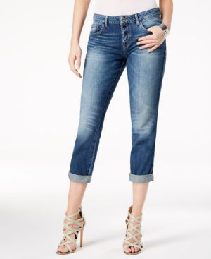 COTTON BUTTON-FLY TOMBOY JEANS