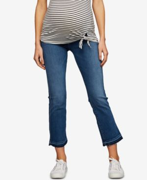 Image of 7 For All Mankind Maternity Cropped Boot-Cut Jeans