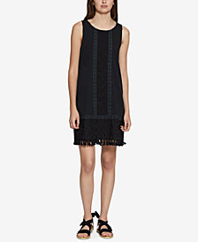 Sanctuary Alicia Boheme Embroidered Fringe-Hem Dress