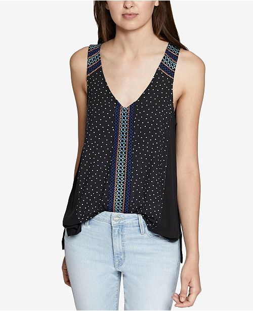 16d4c63d5cdf9 Kira Embroidered Cotton Tank Top. Be the first to Write a Review. main  image  main image ...