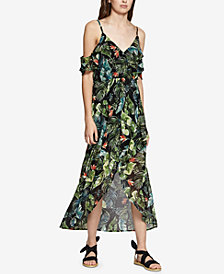 Sanctuary Sofia Printed Cold-Shoulder Dress