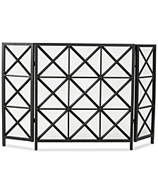 Three Panel Fireplace Screen, Quick Ship