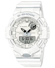 G-Shock Men's Analog-Digital White Resin Strap Step Tracker Watch 48.6mm