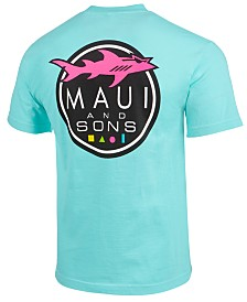 Maui and Sons Men's Shark Logo T-Shirt