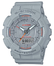 G-Shock Women's Analog-Digital Gray Resin Strap Step Tracker Watch 49.5mm