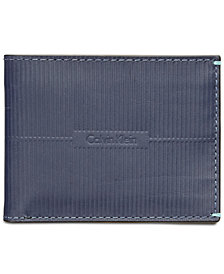 Calvin Klein Men's Grooved Leather Slim Wallet