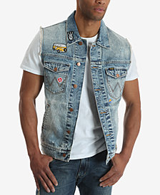 Wrangler Men's Denim Patch Vest