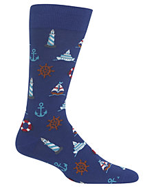 Hot Sox Men's Nautical Icons Socks