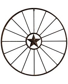Round Metal Wagon Wheel Wall Décor
