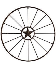 Round Metal Wagon Wheel Wall Décor