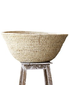 Hand-Woven Raffia Bowl