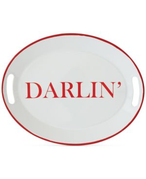 "Image of Enameled ""Darlin"" Tray with Handles"