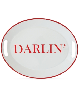 "Image of 16.2"" x 12.7"" 'Darlin' Serving Tray White/Red - 3R Studios"