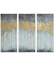 Madison Park Evening Forest Gray 3-Pc. Gel/Foil-Embellished Canvas Print Set