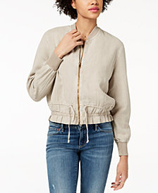 Lucky Brand Ruched Bomber Jacket