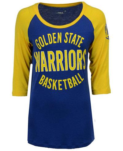 5th & Ocean Women's Golden State Warriors Rayon Raglan T-Shirt