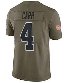 Nike Men's Derek Carr Oakland Raiders Salute To Service Jersey