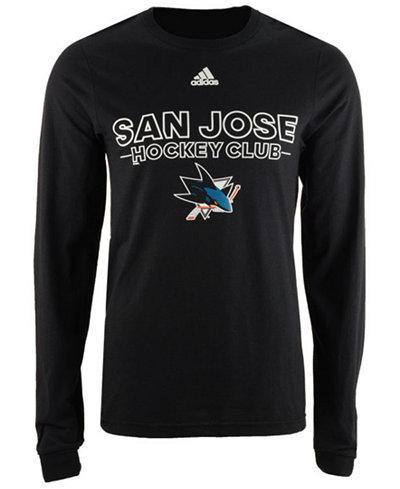 adidas Men's San Jose Sharks Frontline Long Sleeve T-Shirt