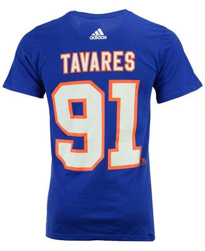 adidas Men's John Tavares New York Islanders Silver Player T-Shirt