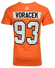 adidas Men's Jakub Voracek Philadelphia Flyers Silver Player T-Shirt