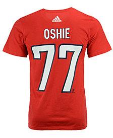 adidas Men's T.J. Oshie Washington Capitals Silver Player T-Shirt